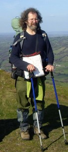 Mike on Offa's Dyke Path