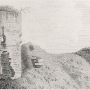 an old print of Auchan Castle, Dunfriesshire