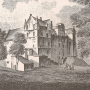 an old print of Darnaway Castle, Moray