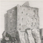 an old print of Dunure Castle, Ayrshire