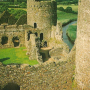 the inner ward at Kidwelly Castle, Carmarthenshire