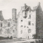 an old print of Maclellans Castle, Kirkcudbright