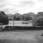 The River Tweed and the Eldon Hills from Dryburgh in the Scottish Borders