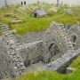 St Cavans Church, Inisheer note the small building covering the saint's grave in the background