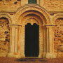 the west door at Stewkley Church Buckinghamshire