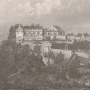 an old print of the palace at Stirling Castle