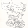 map of the churches contained in the Derbyshire book