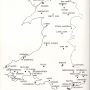 map of monastic sites and cathedrals in Wales