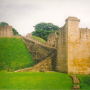 the motte and Coleman Tower at Pickering Castle, Yorkshire