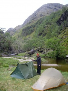 Campsite by River Carron